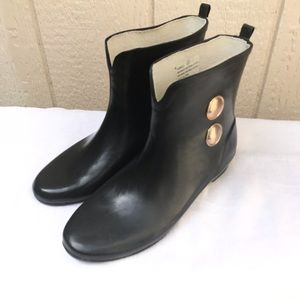 Merona black rain boots by Target size 6